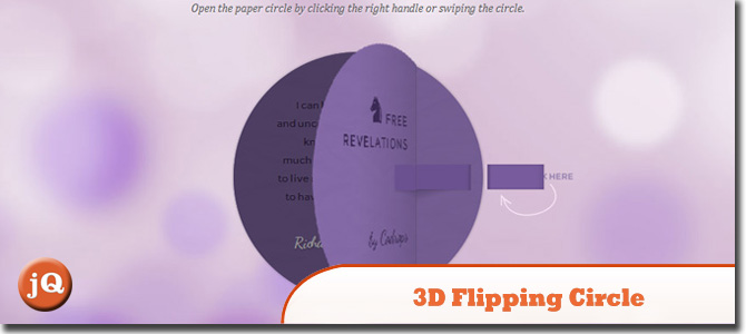 3D Flipping Circle