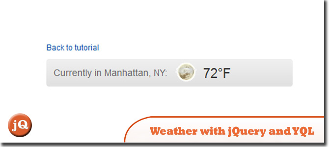 Weather to Your Site with jQuery and YQL
