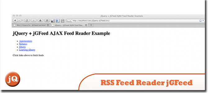 RSS Feed Reader with jQuery and jGFeed
