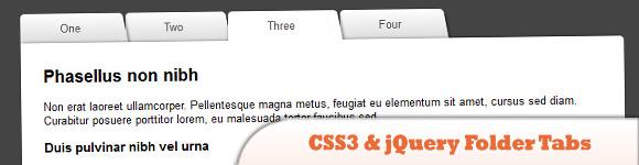 CSS3 & jQuery folder tabs