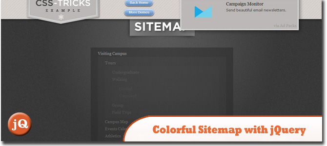 Sitemap With jQuery