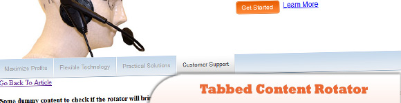 Tabbed Content Rotator