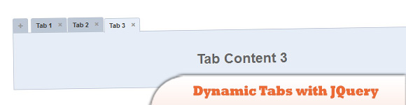 Dynamic Tabs with JQuery