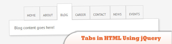 Tabs in HTML Using jQuery