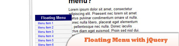 Floating Menu with jQuery