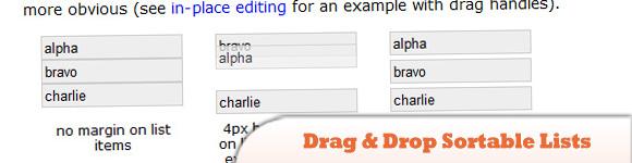 Drag & Drop Sortable Lists