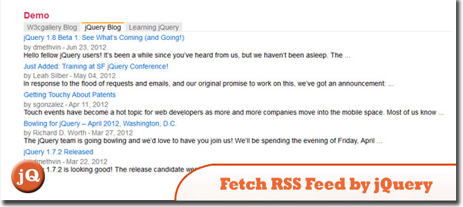 fetch RSS Feed by jQuery