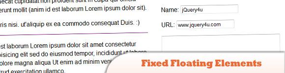 Fixed Floating Elements