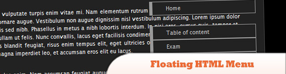 Floating HTML Menu