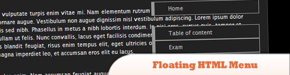 Floating HTML Menu