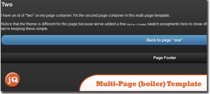 Multi-page (boiler) Template