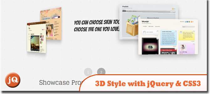 3D Style with jQuery & CSS3