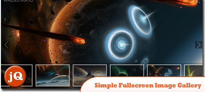 Simple jQuery Fullscreen Image Gallery