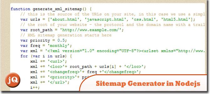 XML Sitemap Generator in Node.js