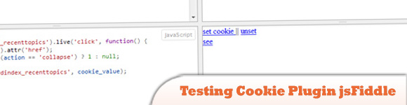 Testing Cookie Plugin jsFiddle