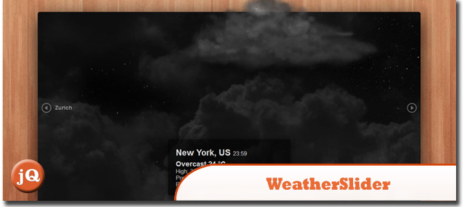 WeatherSlider