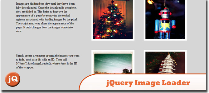 jQuery Image Loader Plugin