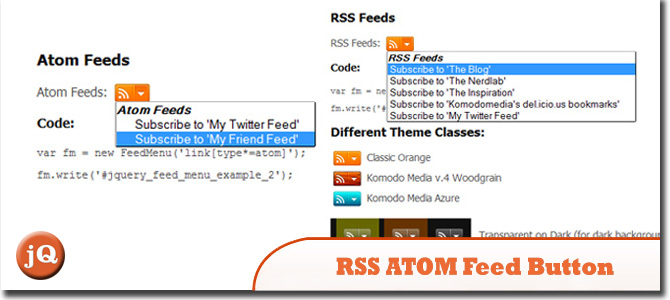 jQuery RSS ATOM Feed