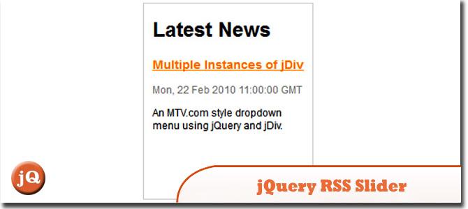 jQuery RSS Slider