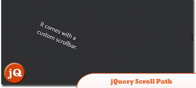 jQuery Scroll Path