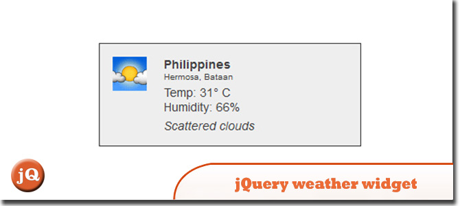 jQuery weather widget