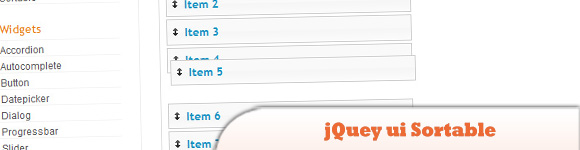jQuey ui Sortable