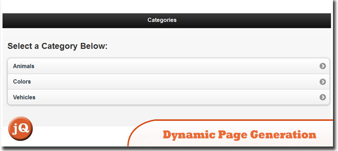 jQuery Mobile and Dynamic Page Generation