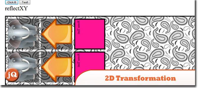 jQuery 2D Transformation
