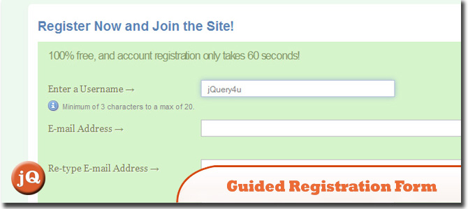 Guided Registration Form