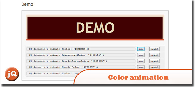 Color animation jQuery-plugin
