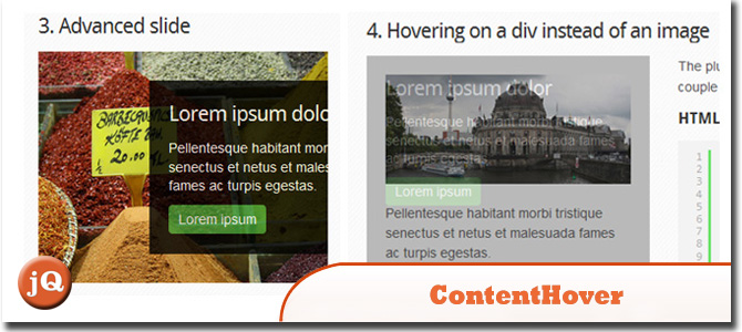 jQuery ContentHover Plugin