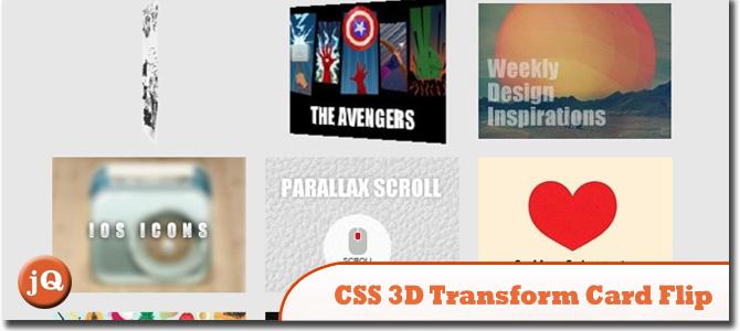 CSS 3D Transform Card Flip