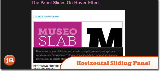 Horizontal Sliding Panel