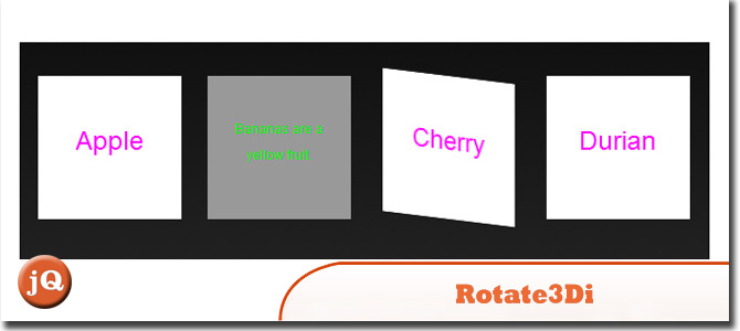 Rotate3di flip html content in 3d with jquery