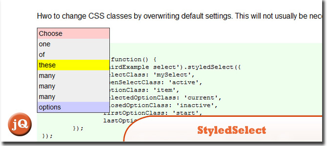 StyledSelect jQuery
