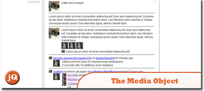 The Media Object