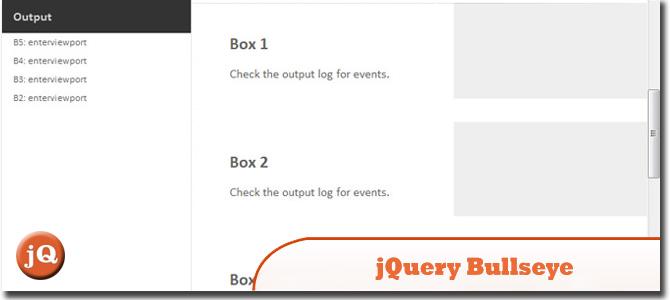 jQuery Bullseye