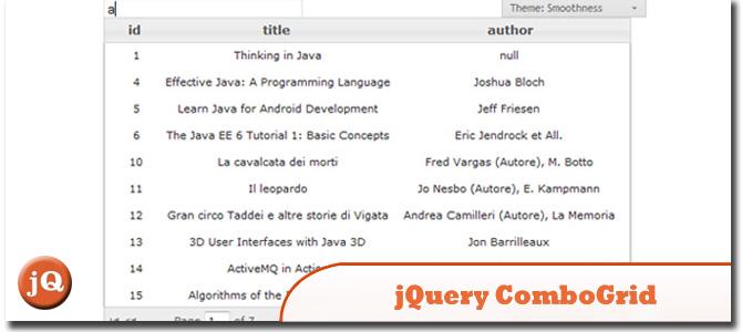 jQuery ComboGrid Plugin