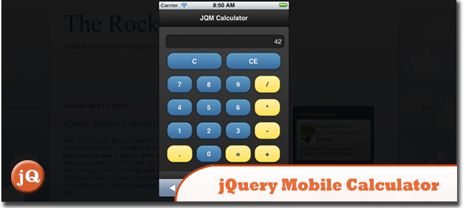 The Rock n Coder - jQuery Mobile Calculator