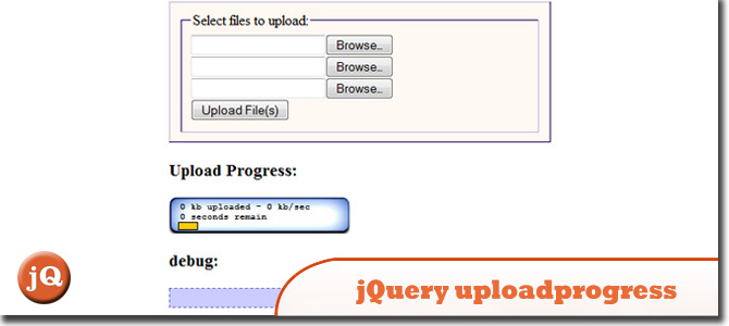 jQuery uploadprogress