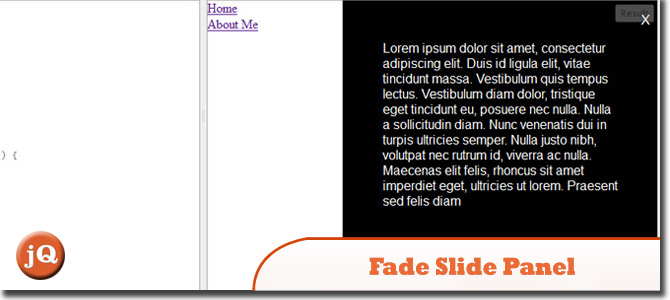 how to use fadein jquery