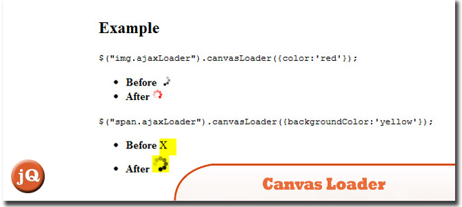 jQuery Canvas Loader