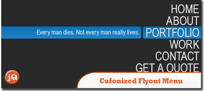 CUFONIZED FLY-OUT MENU
