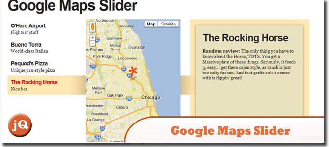 Google Maps Slider with jQuery
