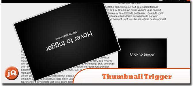 jQuery Thumbnail Trigger