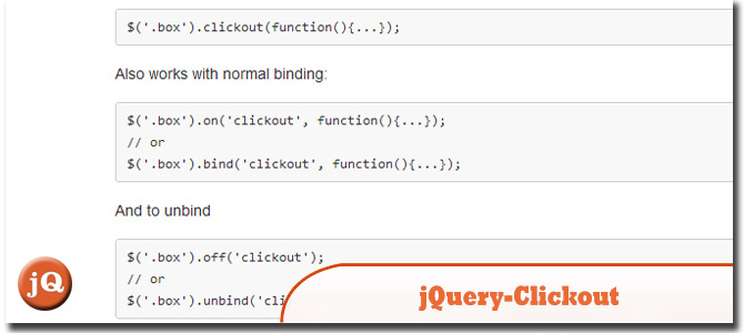 jQuery-Clickout