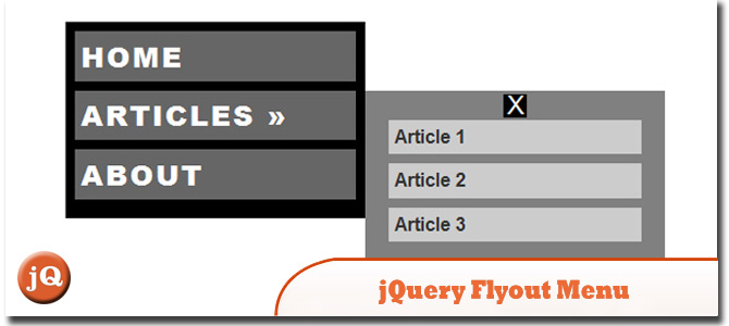 jQuery Fly-Out Menu