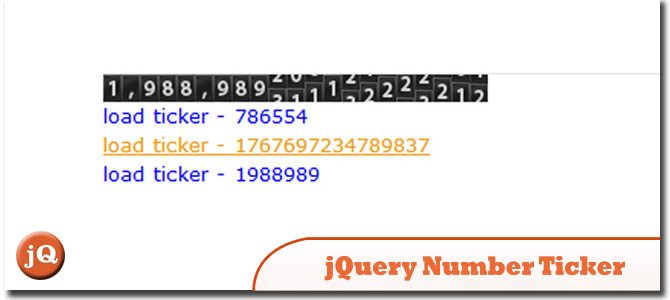 Jquery Number Ticker