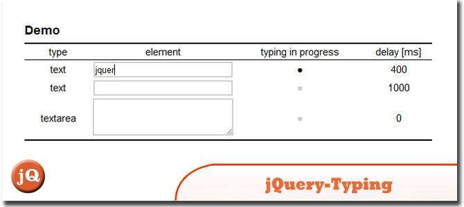 jQuery-typing