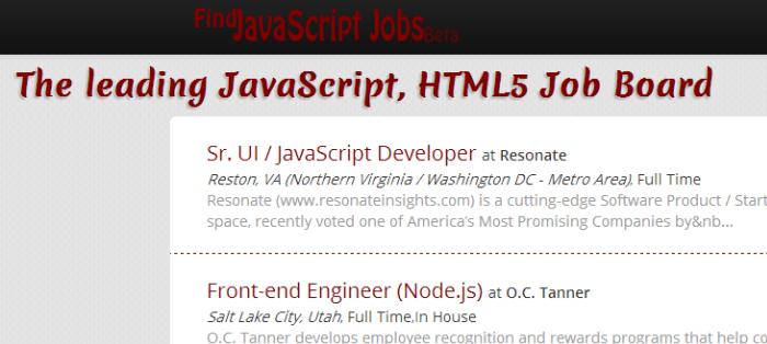 find js jobs